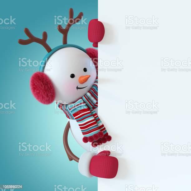 3d render christmas snowman character wearing furry headphones picture id1053590224?b=1&k=6&m=1053590224&s=612x612&h=0eckesabecyftsjixeb4xwjcxcixsgegve5ckf0lsyi=