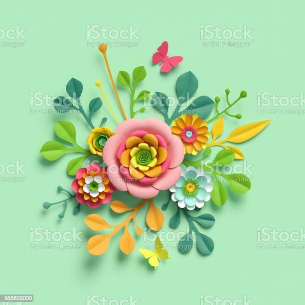 3d render craft paper flowers mothers day floral bouquet yellow picture id955809000?b=1&k=6&m=955809000&s=612x612&h=vgcaigv6 xttrwj cuaqa59pbnqq8yxmu59uzp1oncu=