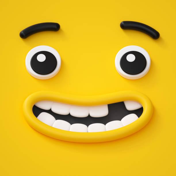 3d render cute childish face toothless smile amazed emotion emoji picture id879286680?b=1&k=6&m=879286680&s=612x612&w=0&h=o5delmy8agaxwnbd1o7jamilwxx gzcbgsy71deil2s=