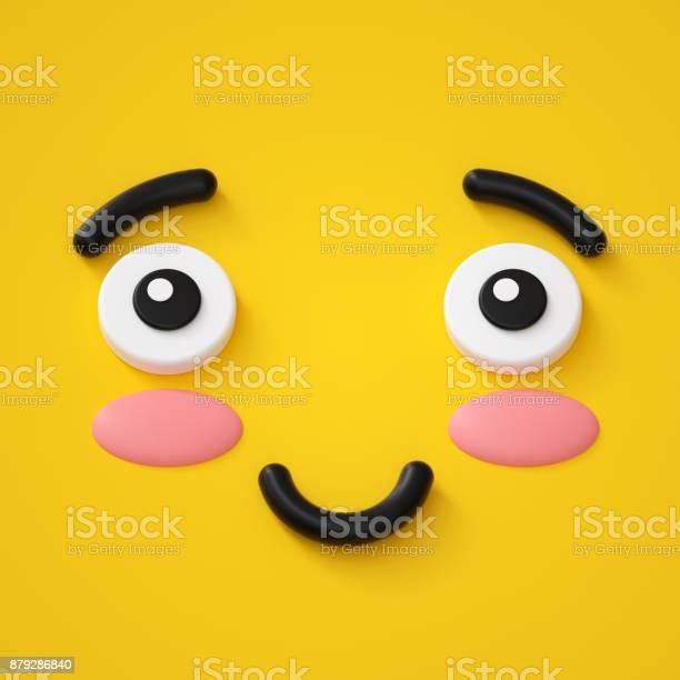 3d render cute emotional cartoon face shy smiley kid adorable smile picture id879286840?b=1&k=6&m=879286840&s=612x612&h=ijbwhxn0fiqcece4p2u5b8tee3fezmkmfl94grxoi6m=
