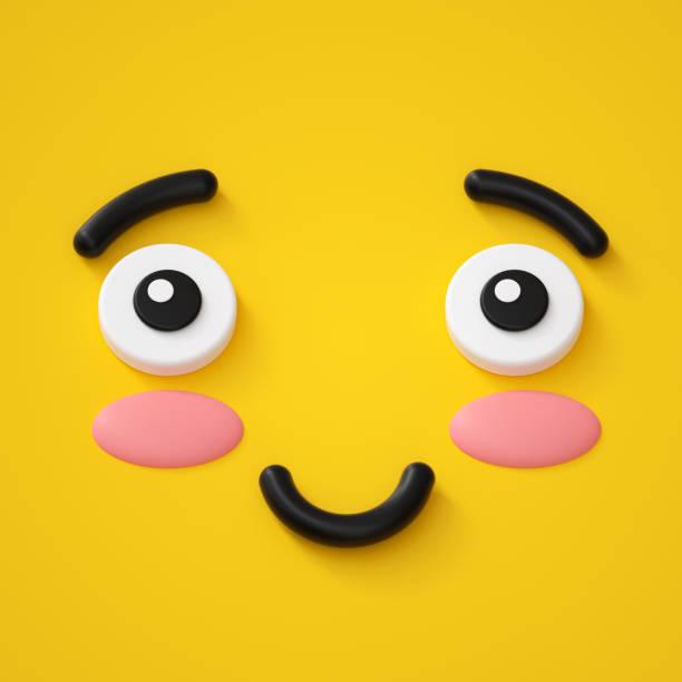 3d render cute emotional cartoon face shy smiley kid adorable smile picture id879286840?b=1&k=6&m=879286840&s=612x612&w=0&h=huo6eyv7h2zqjmhlmlvzjxewkdgu2aqdhx7kgkhwabu=
