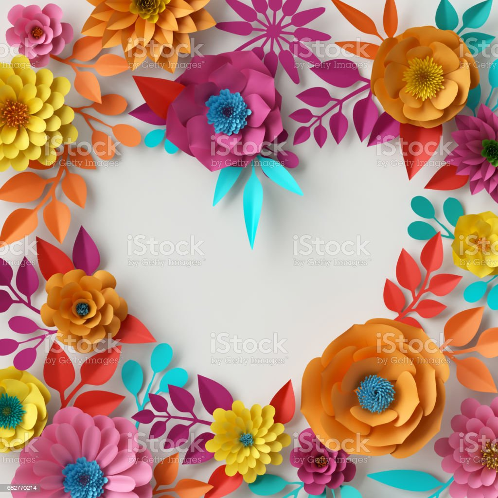 3d render digital illustration abstract colorful paper flowers 3d render digital illustration abstract colorful paper flowers wallpaper spring summer background mightylinksfo