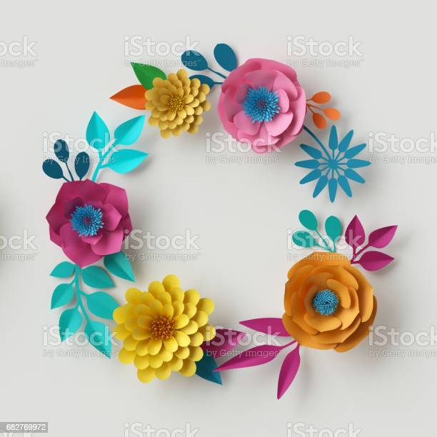 3d render digital illustration abstract frame colorful paper flowers picture id682769972?b=1&k=6&m=682769972&s=612x612&h=yk4hdgemxsgknhqxoomsmoixnny141fkj3kp ur mxe=