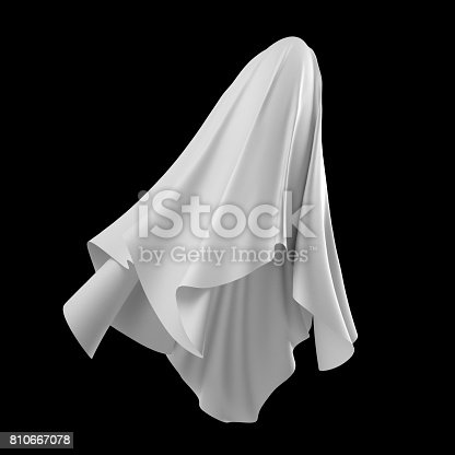 istock 3d render, digital illustration, abstract white cloth, flying fabric,dynamic textile object isolated on black background 810667078