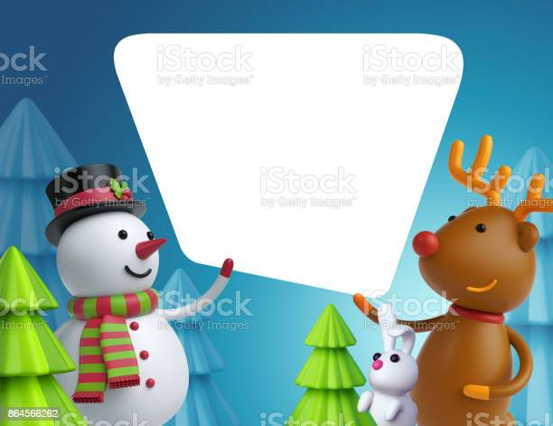 3d render digital illustration christmas cartoon snowman and deer picture id864566262?b=1&k=6&m=864566262&s=612x612&h=jzv8bs410q1ffveiqzu11y6wt1ev gklua0o pwvyss=