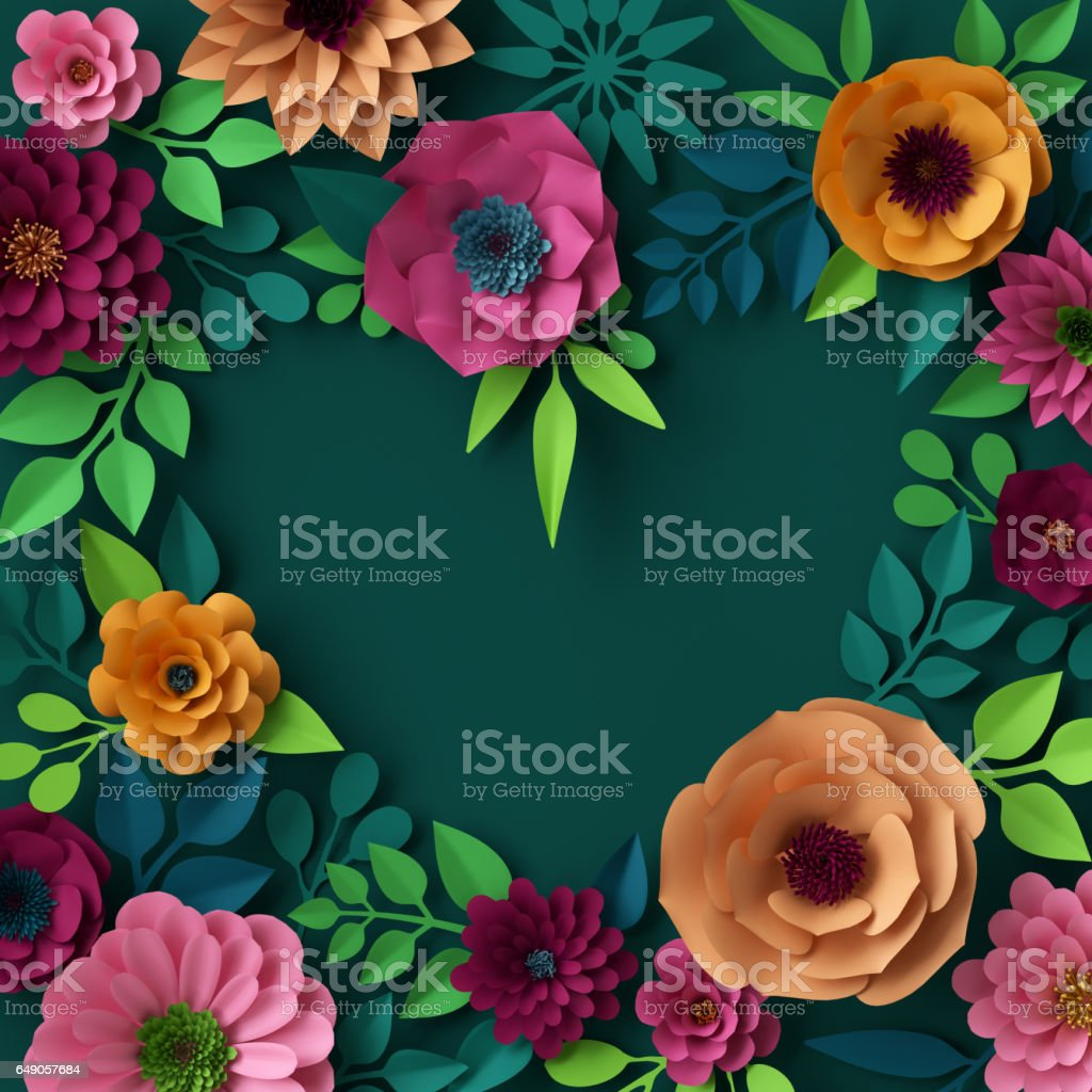 3d render digital illustration colorful paper flowers wallpaper 3d render digital illustration colorful paper flowers wallpaper spring summer background royalty mightylinksfo