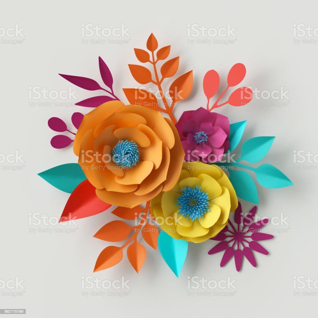 3d render digital illustration colorful paper flowers wallpaper 3d render digital illustration colorful paper flowers wallpaper spring summer background floral mightylinksfo