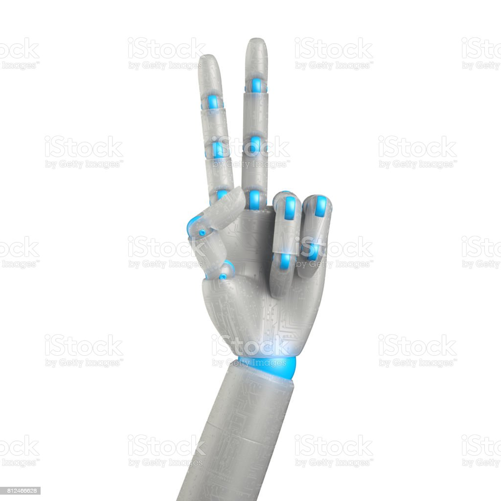 3d Render Digital Illustration Robot Hand Android Arm
