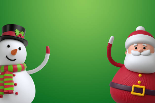 3d render digital illustration snowman and santa claus isolated on picture id864567940?b=1&k=6&m=864567940&s=612x612&w=0&h=ocstfhaet0dhedpjdzkzglnmuaspe2enlbclk ys6fm=