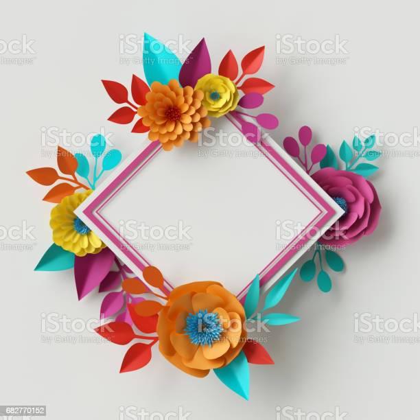 3d render digital illustration vivid paper flowers rectangle floral picture id682770152?b=1&k=6&m=682770152&s=612x612&h=wpqvysfsao kxsbicjxha7juxbn1orzyocktelutl0c=