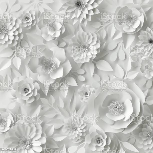 3d render digital illustration white paper flowers floral background picture id648027944?b=1&k=6&m=648027944&s=612x612&h=slbmmq4rz7ksd 08oaim1eog2nej76crthuc33qcwlw=