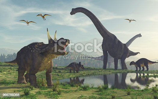 3d render dinosaur. This is a 3d render