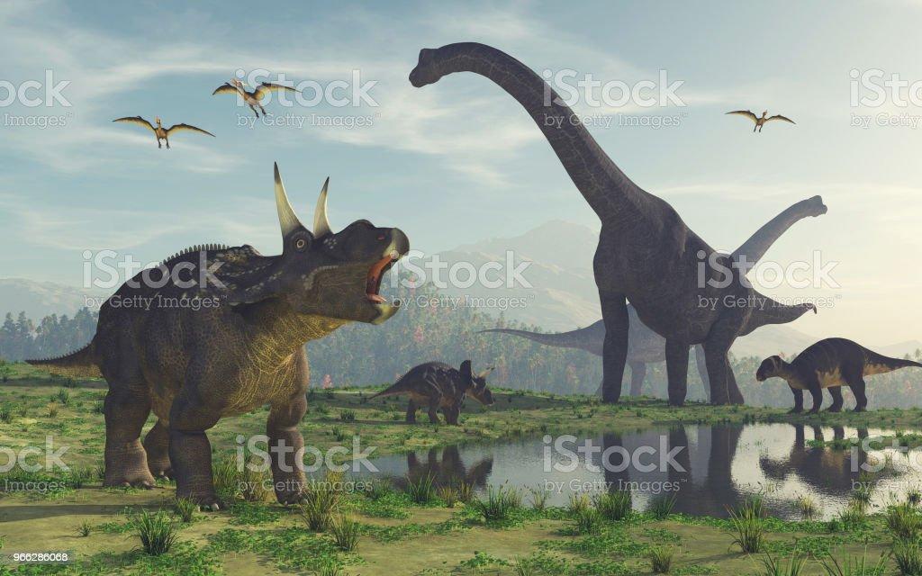 3 d レンダリングの恐竜。 ストックフォト