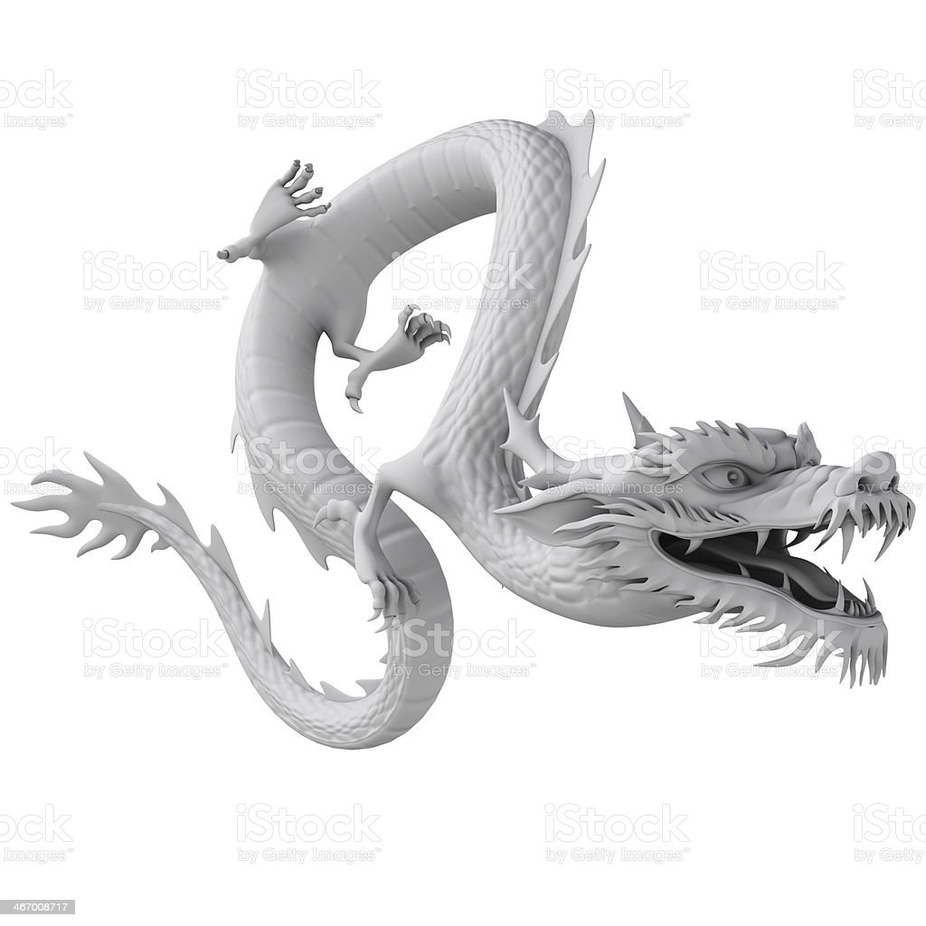 3d render Dragon clay  texture royalty-free stock photo
