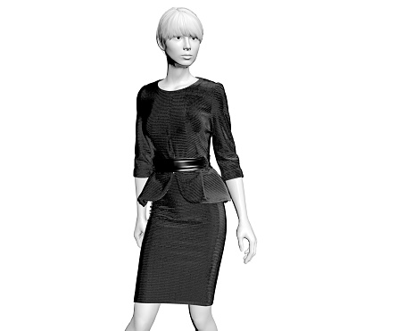 istock 3d render fashion mannequin with black dress 1088172096