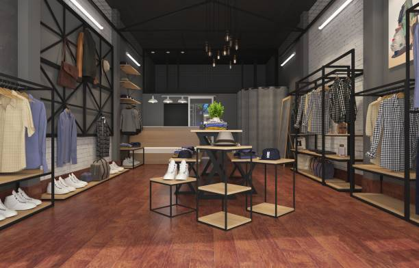 3d render fashion shop 3d render fashion shop, modern store. boutique stock pictures, royalty-free photos & images
