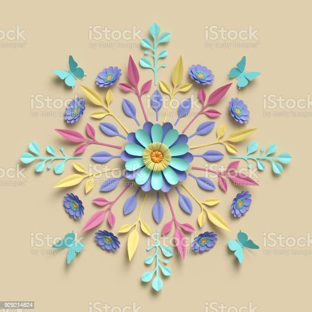 3d render floral kaleidoscope pastel paper flowers symmetrical picture id929214624?b=1&k=6&m=929214624&s=612x612&h=psuaumuew7vrydehkmt wcsmbqyevjgifctdncll1vm=