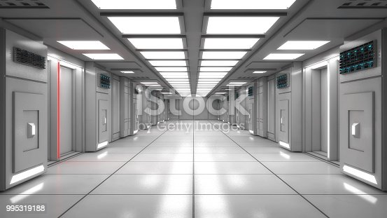 830306120 istock photo 3d Render. Futuristic interior design for movie or background 995319188