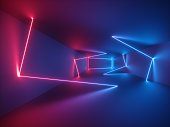 3d render, glowing lines, neon lights, virtual reality, abstract psychedelic background, ultraviolet, vibrant colors
