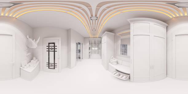 3d render halle interior design im klassischen stil - dielenkommoden stock-fotos und bilder