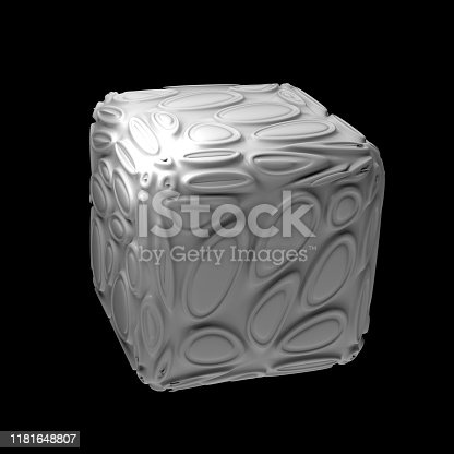 istock 3d render isolated simple shape of primitive with double extruded cell cover. 1181648807