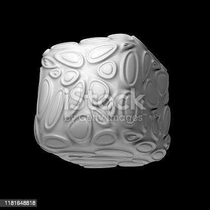 istock 3d render isolated simple shape of primitive with double extruded cell cover. 1181648818
