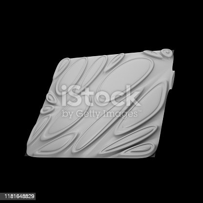 istock 3d render isolated simple shape of primitive with double extruded cell cover. 1181648829