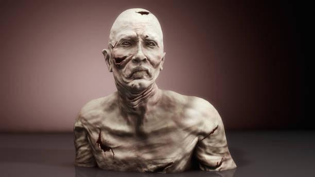 3d render monster zombie portrait - zombie apocalypse stock photos and pictures