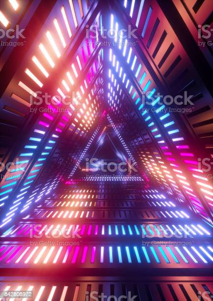 3d render neon lights triangle tunnel abstract geometric background picture id842808972?b=1&k=6&m=842808972&s=612x612&h=e3us0q3r4xozkw8rycfial 5fibtbm1nzerxhl8dqui=