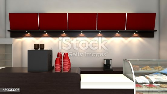 istock 3d Render of a CoffeeShop or Bakery Interior 450033097