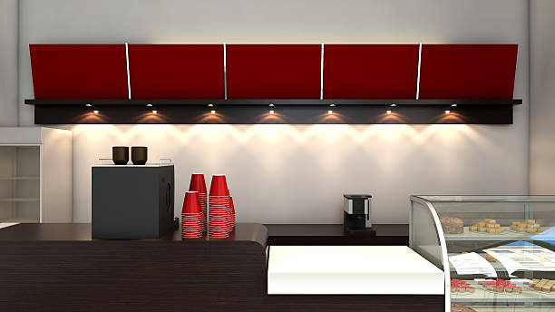 3d Render of a CoffeeShop or Bakery Interior stock photo