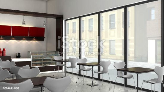 istock 3d Render of a CoffeeShop or Bakery Interior 450033133
