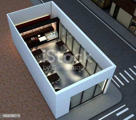 istock 3d Render of a CoffeeShop or Bakery Interior 450039213