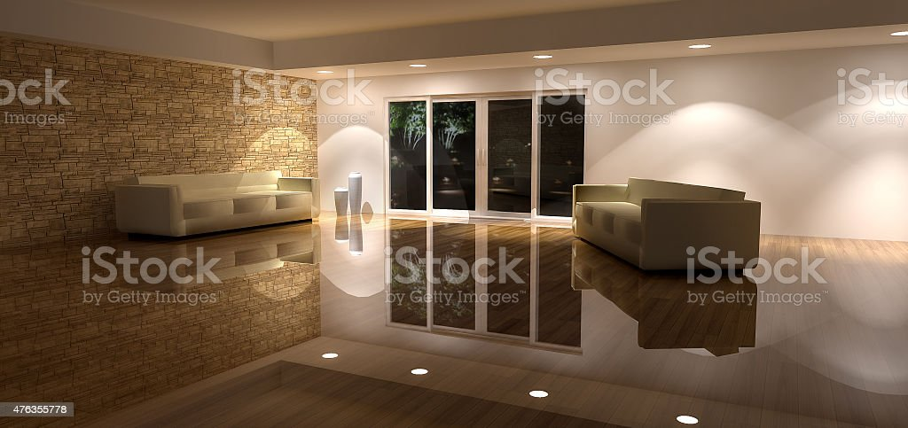 3d Render of a Living Room Background stock photo