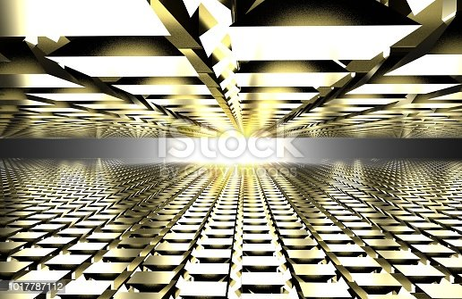 istock 3d render of abstract floor with sun reflection. mirror 1017787112