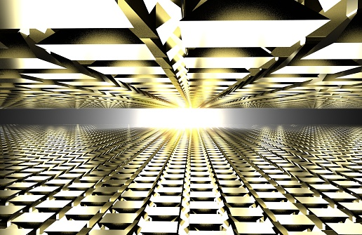 602331300 istock photo 3d render of abstract floor with sun reflection. mirror 1017787112