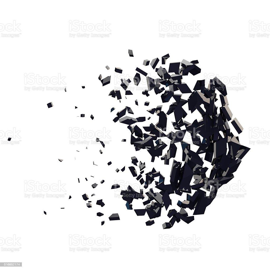 3 d Render von abstrakten geometrischen explodieren Form – Foto