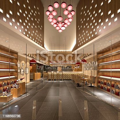 istock 3d render of alcohol shop 1168560736