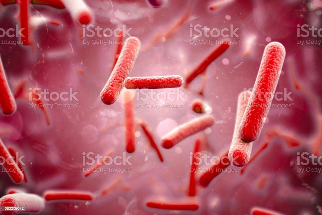 3d render of bacteria, cells, closeup royalty-free stock photo