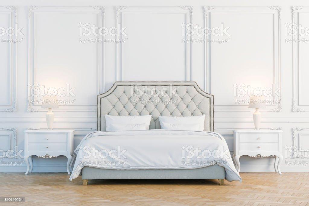 3d render of beautiful  bedroom stock photo