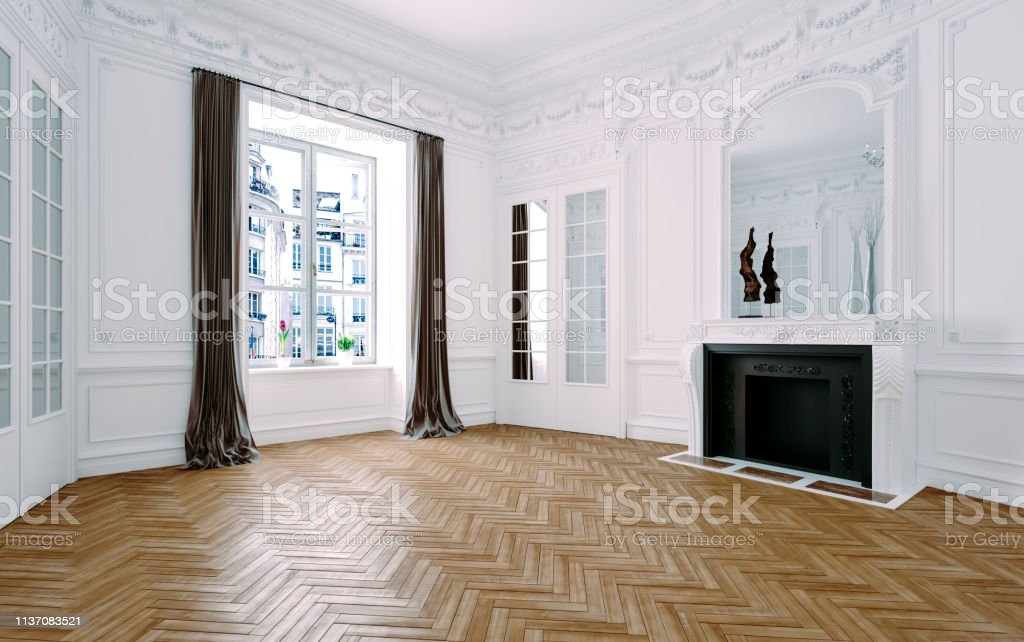 3d Render Of Beautiful Classic Interior Stock Photo Download Image Now Istock