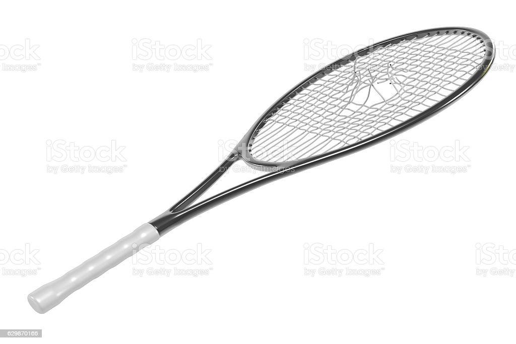 3d render of broken tennis racket stock photo
