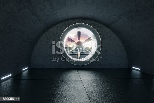 istock 3d render of concrete garage with ventilation system 659056144