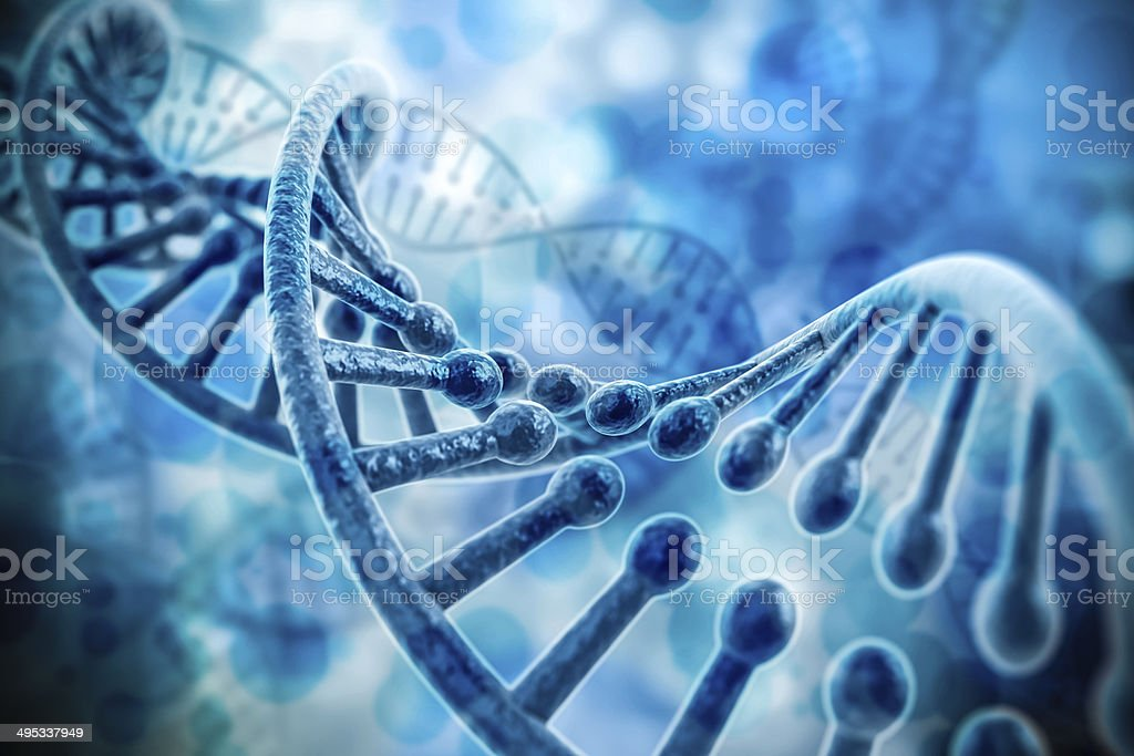 3d render of dna structure, abstract  background stock photo