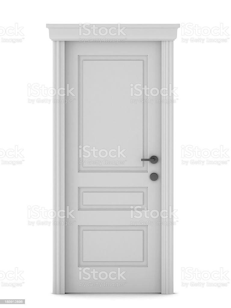 3d render of door royalty-free stock photo