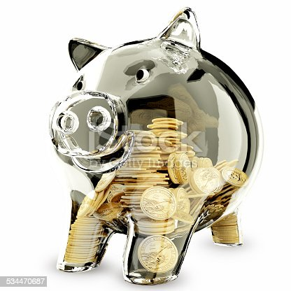 istock 3d render of glass piggybank isolated on white background 534470687