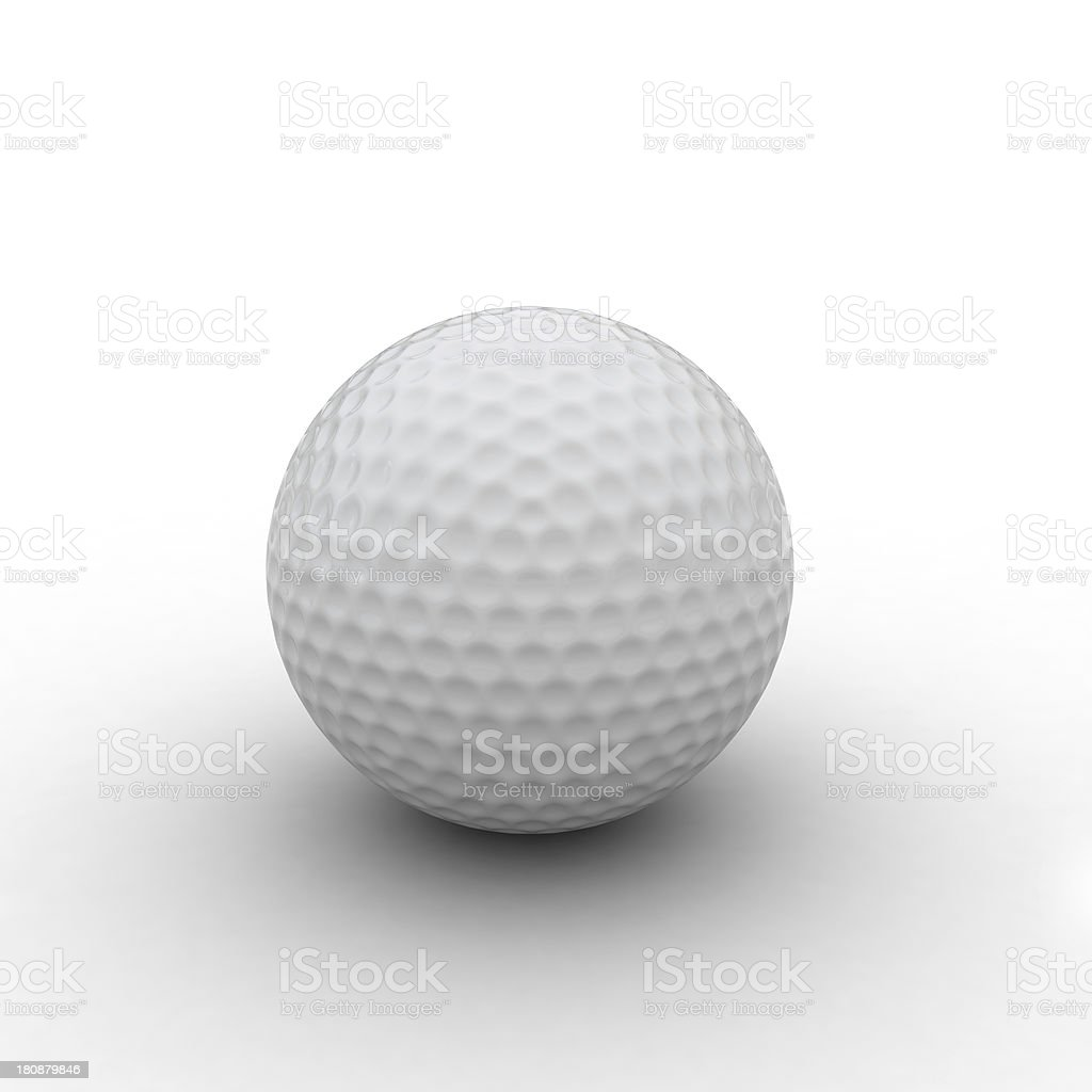 3d render of golf ball royalty-free stock photo