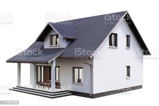 3d render of house isolated on a white picture id1144612063?b=1&k=6&m=1144612063&s=612x612&h=s xgplquozodmveptcc lijudo9cixzk6enzipkz3ge=
