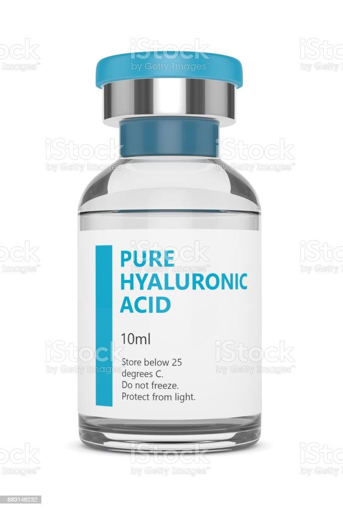 render 3D de vial de ácido hialurónico - foto de stock