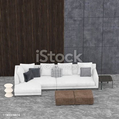 924294300 istock photo 3d render of living room interior. 1190026624